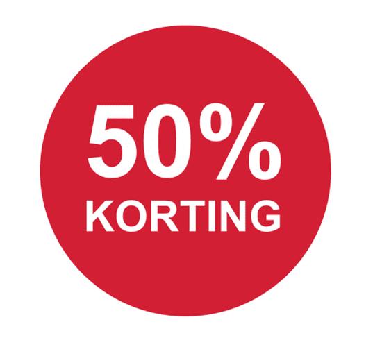 50% korting op alles!